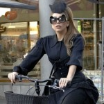 Lady Gaga in bici